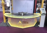 Electric Hibachi Grill 8 Seats Capacity Teppanyaki Table for Restaurant Rainbow Color