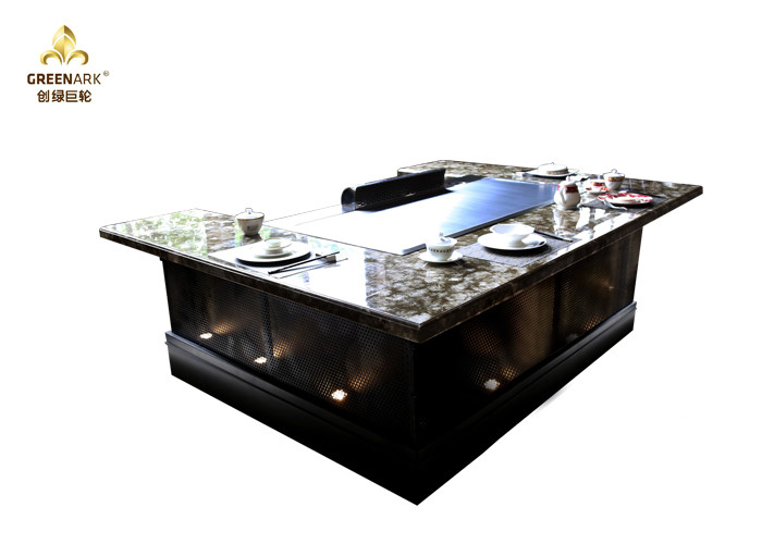 Electric Teppanyaki Hibachi Grill table with sunken air inlet design