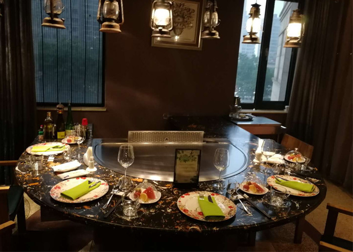 Teppanyaki with Built-in Air Blower and Electrostatic Fume Purifier used for Private Club