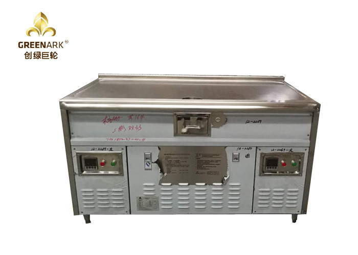 Upper Exhaustion Double Burners Induction Heating Teppanyaki Grill